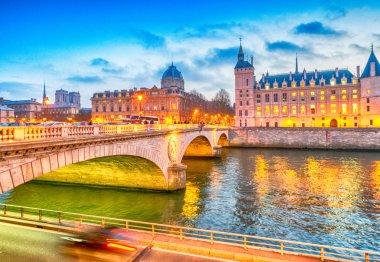 Beautiful view of Paris buildings and river