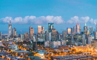 Melbourne night skyline, Victoria - Australia