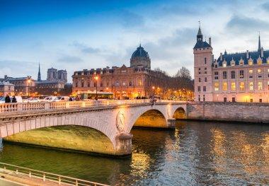 Paris, aerial city skyline