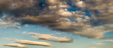 Panoramic view of cloudy sky at dusk