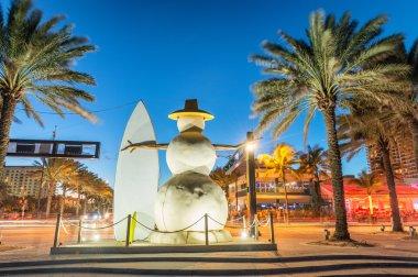 Fort Lauderdale Beach Boulevard at sunset, Florida