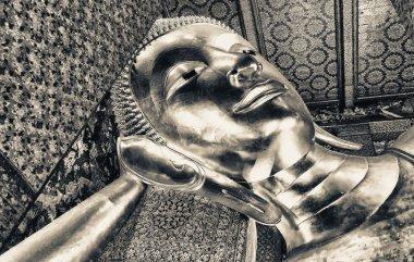 Reclining Buddha gold statue, Wat Pho, Bangkok - Thailand