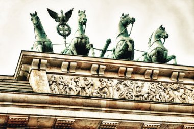 Brandenburg Gate Quadriga in Berlin, Germany