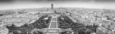 Panoramic view of Paris from Eiffel Tower.