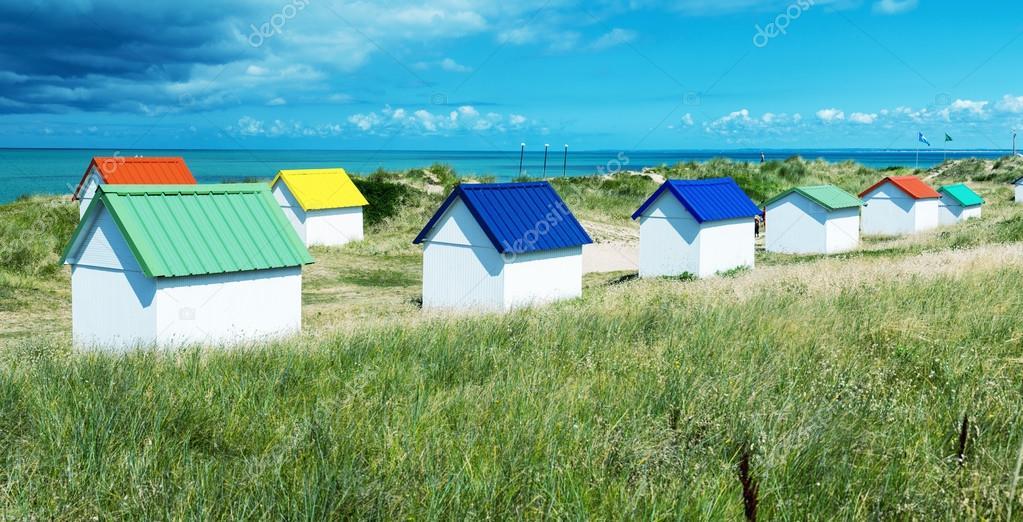 Colorful homes on a beautiful ocean coastline