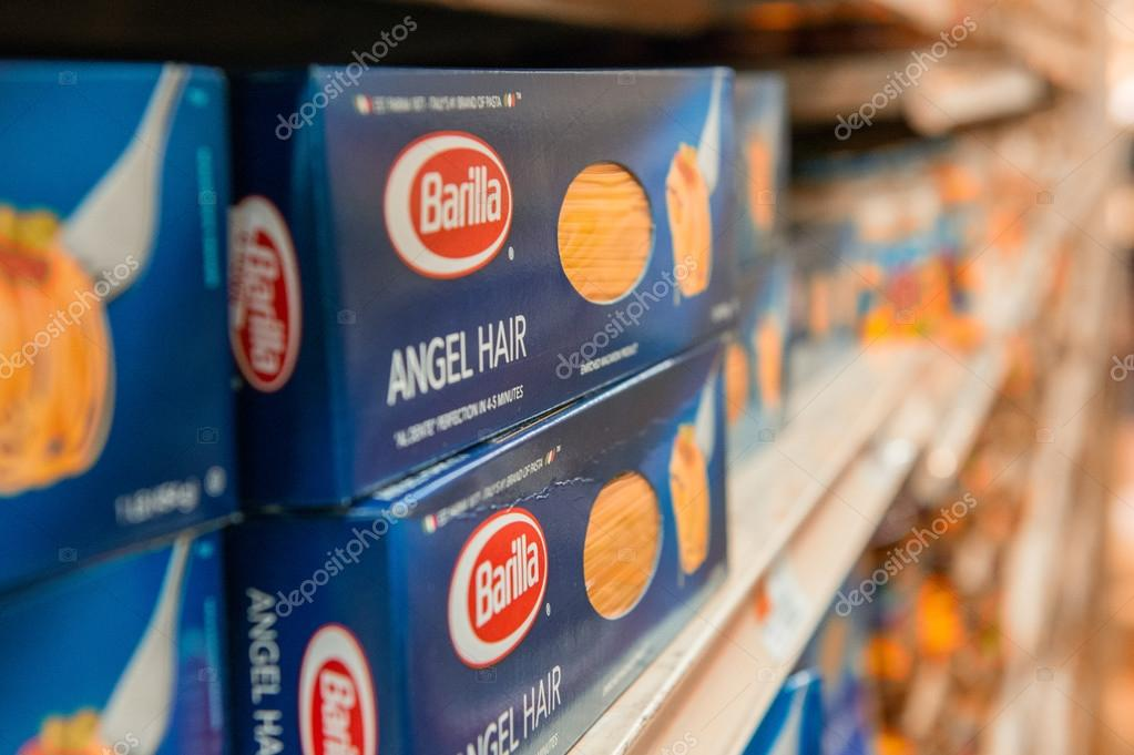 Angel Hair Box Of Pasta Barilla Stock Editorial Photo C Jovannig