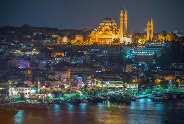 Şehir gece panorama