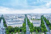 Letecký pohled na Paříž