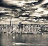 Panorama Manhattanu, letecký pohled