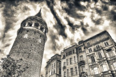 Stunning structure of Galata Tower at dusk