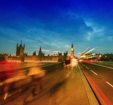 People moving on Westminster Bridge