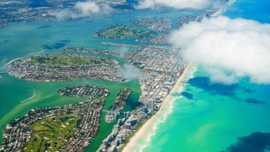 aerial view of Miami South Beach