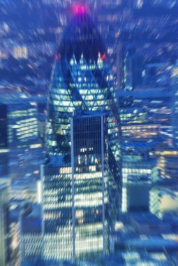 Blurred picture of London night skyline