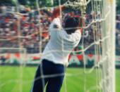 Fényképek Kapus blokkoló futball-labda