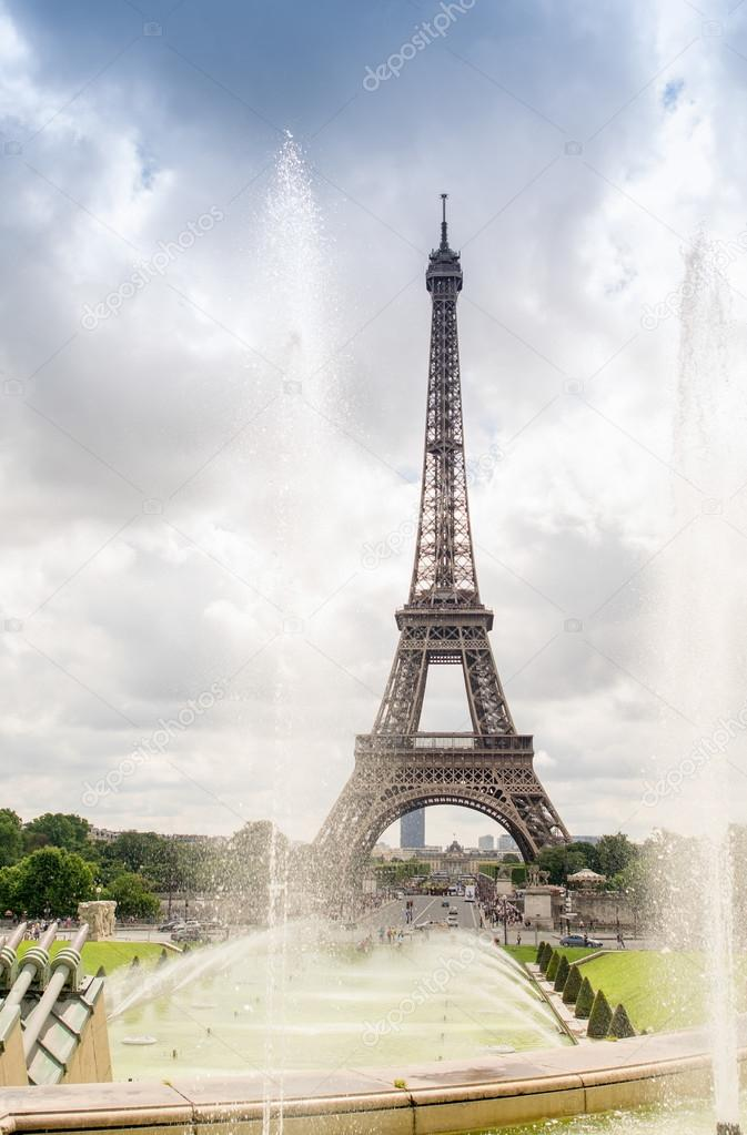The Eiffel Tower from Trocadero Park, Paris