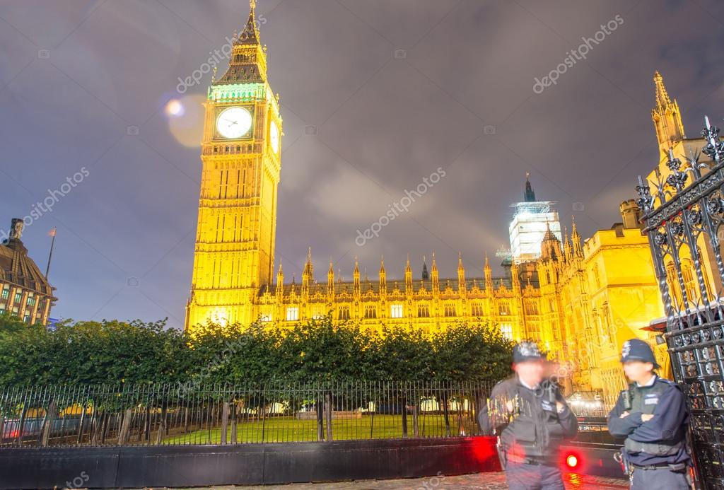 Wonderful night view of Westminster Palace, London