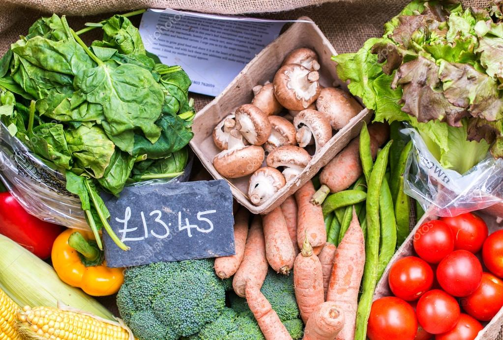 Vegetables on a London market