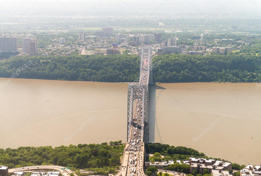 George Washington Bridge. Aerial view view of New York City