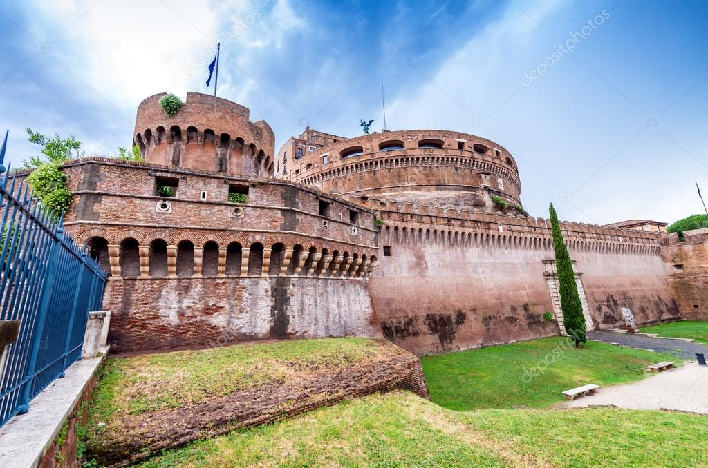 Rome, Italy. Beautiful view of Saint Angel Castle