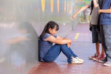 School bullying. Multiracial class