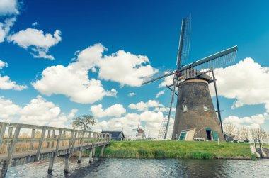Kinderdijk, Netherlands. Famous windmills
