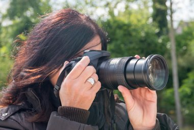 Female photographer outdoor