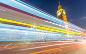 Westminster v noci. Londýn město světel