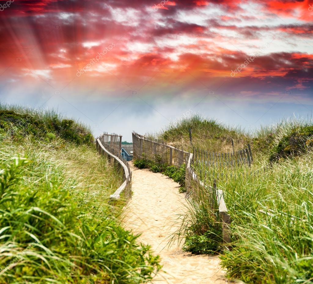 Passage to beach