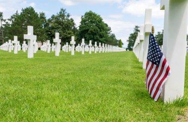 American War Cemetery at Omaha Beach, Normandy (Colleville-sur-Mer). stock vector