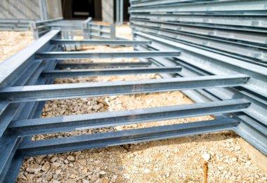 Steel girders at  warehouse