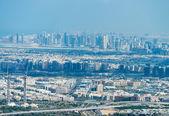 Fotografie Letecký pohled na panorama Dubaje, Spojené arabské emiráty