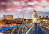 Millennium Bridge and St Paul Cathedral