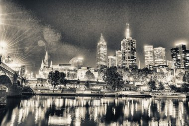 Melbourne city night view