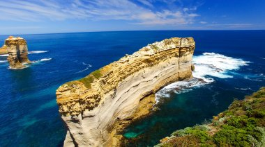 Great Ocean Road. Aerial view from Razorback viewpoint