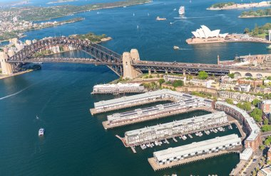Magnificence of Sydney skyline, aerial view