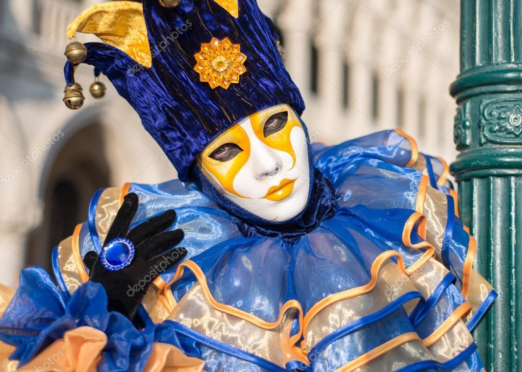 Colourful carnival mask in Venice