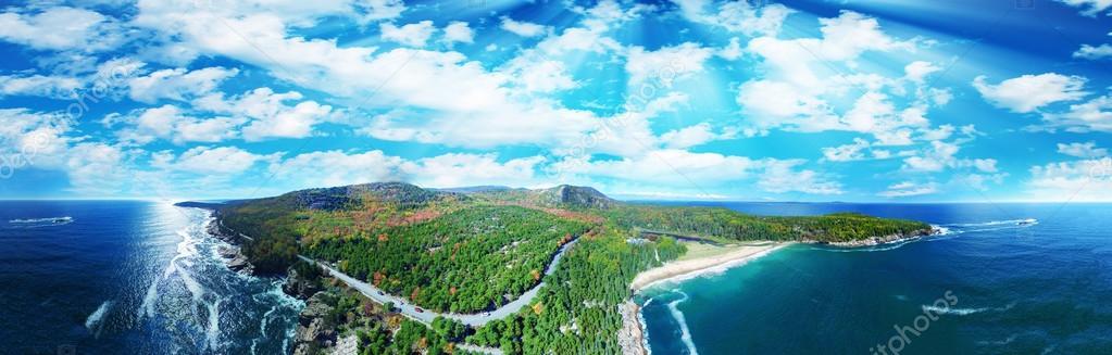 panoramic view of Acadia National Park