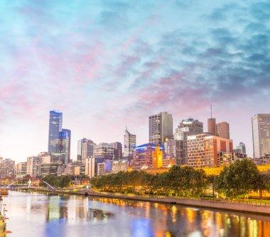Skyline of Melbourne city