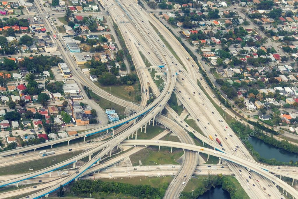 Road intersections, view from above