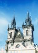Fotografie Středověké městské panorama Prahy