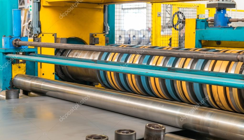 Steel Coils Machine. Sheet cut