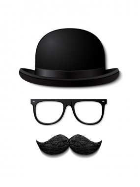 Gentleman in hat with moustache