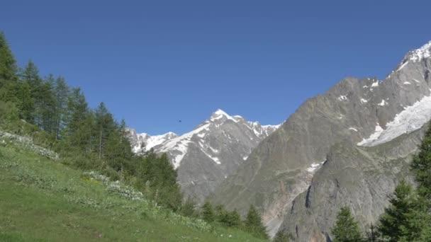 Vrcholy v alpském údolí