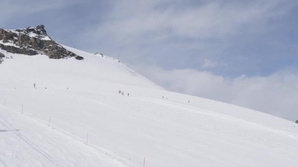 Ski slope of Zermatt ski resort
