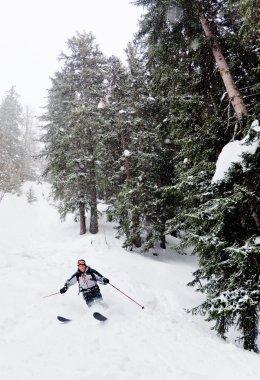 Man's skiing view