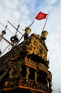 Ancient pirate ship