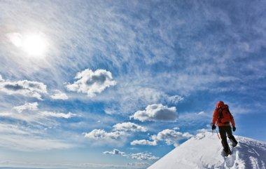 Mountain climber view
