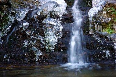 frozen torrent waterfall