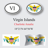 virgin islands icons set