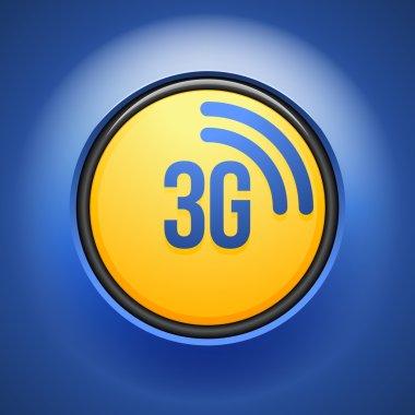 3G technology button sign